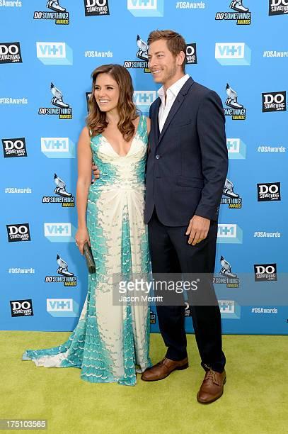 Host Sophia Bush and Google executive Dan Fredinburg arrive at the DoSomething.org and VH1's 2013 Do Something Awards at Avalon on July 31, 2013 in...