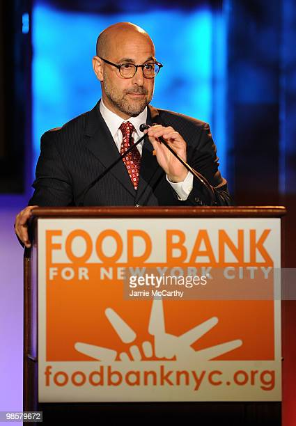 Host Stanley Tucci speaks at the Food Bank for New York City's 8th Annual CanDo Awards dinner at Abigail Kirsch�s Pier Sixty at Chelsea Piers on...