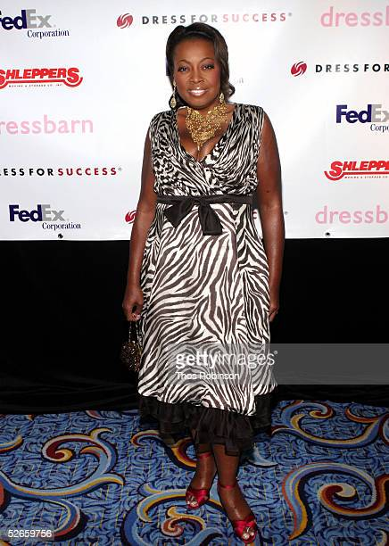 """Host Star Jones attends the Dress For Success """"April In Paris"""" annual gala at Marriott Marquis on April 19, 2005 in New York City."""