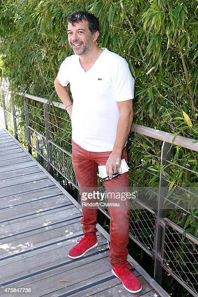 Host Stephane Plaza attends the 2015 Roland Garros French Tennis Open - Day Twelve, on June 4, 2015 in Paris, France.