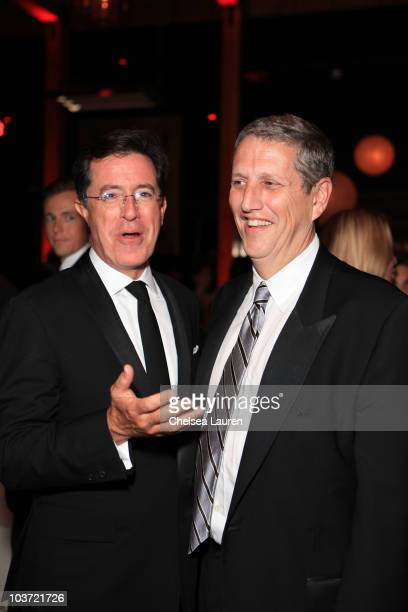 TV host Stephen Colbert and MTV Networks Entertainment Group President Doug Herzog attend Comedy Central's 62nd Annual Emmy After Party at The Colony...
