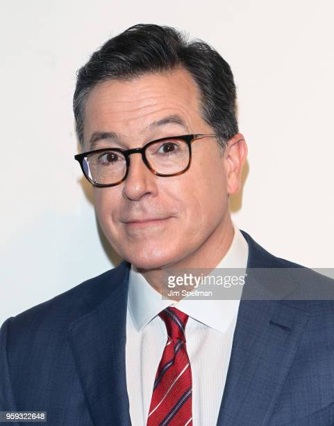 TV host Stephen Colbert attend the 2018 CBS Upfront at The Plaza Hotel on May 16 2018 in New York City
