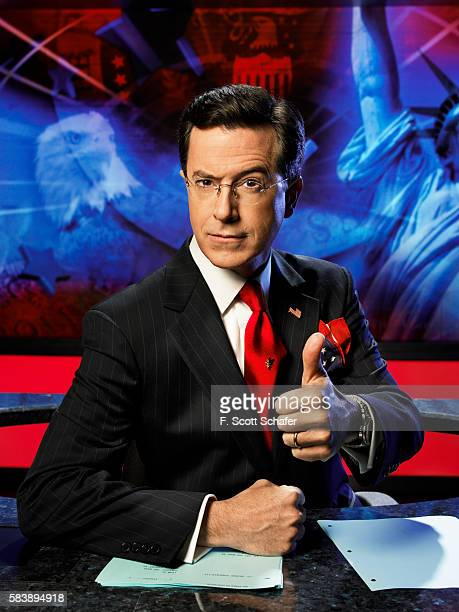 TV host Stephen Colbert is photographed for Newsweek Magazine in 2006 in New York City PUBLISHED IMAGE