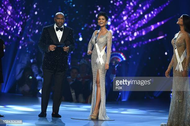 TOP 5 Host Steve Harvey and Miss Vietnam H'Hen Niê during the 2018 MISS UNIVERSE competition airing live from Bangkok Thailand on Sunday Dec 16 on FOX