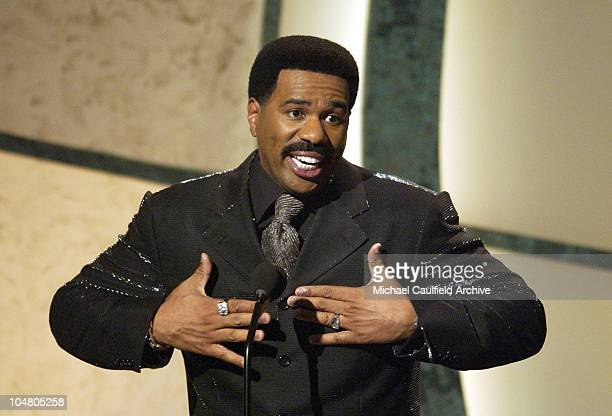 Host Steve Harvey during The 2nd Annual BET Awards Show at The Kodak Theater in Hollywood California United States