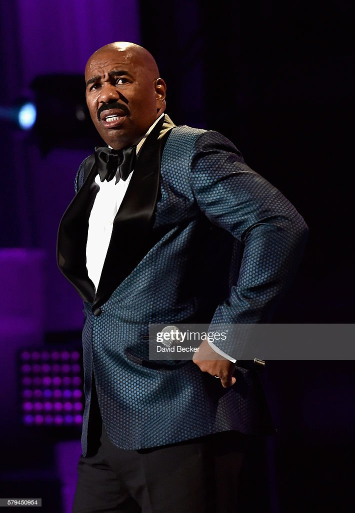 Host Steve Harvey speaks during the 2016 Neighborhood Awards hosted by Steve Harvey at the Mandalay Bay Events Center on July 23, 2016 in Las Vegas, Nevada.