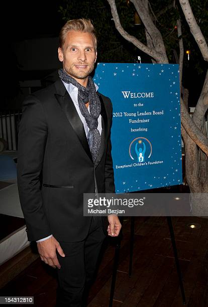 Host Steve Jordan attends Exceptional Children's Foundation Fundraising Gala at SkyBar at the Mondrian Los Angeles on October 17, 2012 in West...