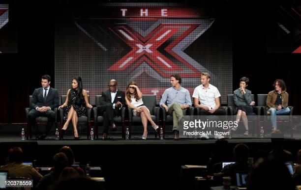 Host Steven Jones TV personalities Nicole Scherzinger TV personality LA Reid Paula Abdul Executive Producer Robe Wade Executive Producer Andrew...