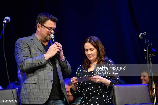 Host Storme Warren and Lori McKenna speak onstage during ACM Stories Songs Stars A Songwriter's Event Benefiting ACM Lifting Lives at The Joint...