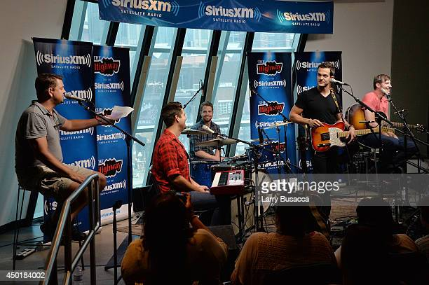 Host Storme Warren Kevin Dailey Jacob Schrodt Ryan Kinder Cornelius Perry and Luke Sheets Perform At SiriusXM's Music City Theatre In Nashville As...
