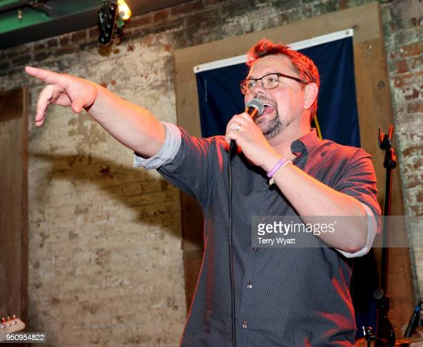 Host Storme Warren speaks at the 17th annual Waiting for Wishes celebrity dinner at Whiskey Row Nashville on April 24 2018 in Nashville Tennessee