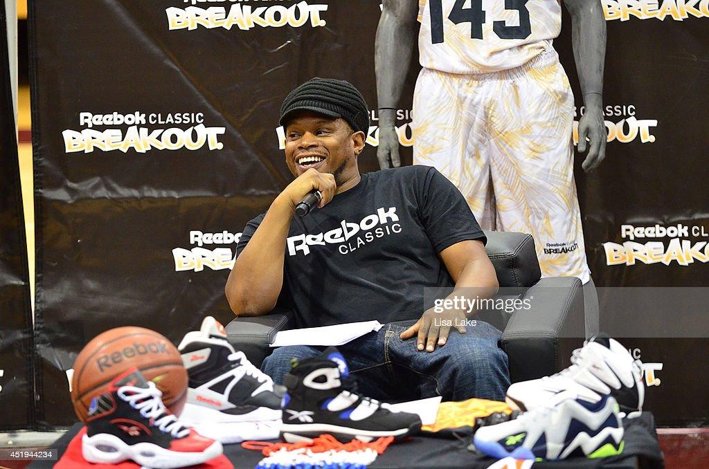 Host Sway Calloway at the Reebok Classic Breakout Classic Rap Roundtable at Philadelphia University on July 9, 2014 in Philadelphia, Pennsylvania.