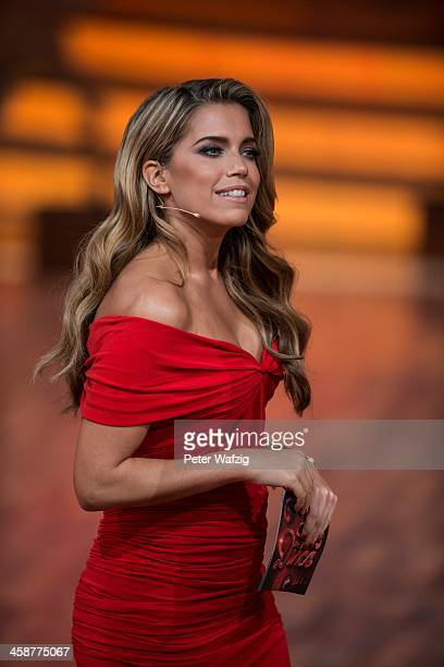 Host Sylvie Meis during the Final of 'Let's Dance Let's Christmas' TV Show on December 21 2013 in Cologne Germany