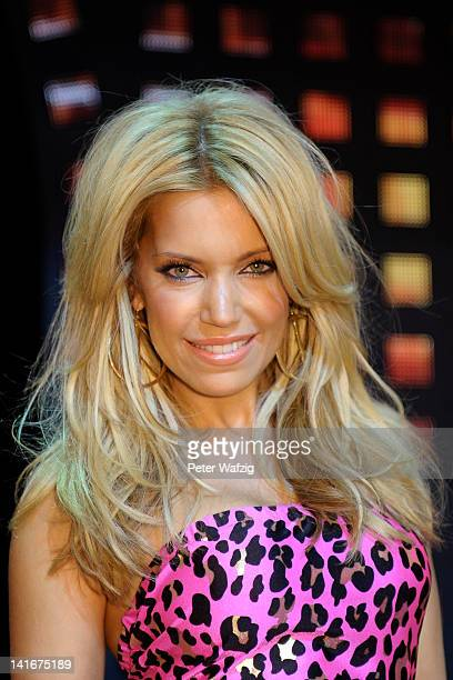 Host Sylvie van der Vaart poses during the 'Let's Dance' TV Show photocall on March 21 2012 in Cologne Germany