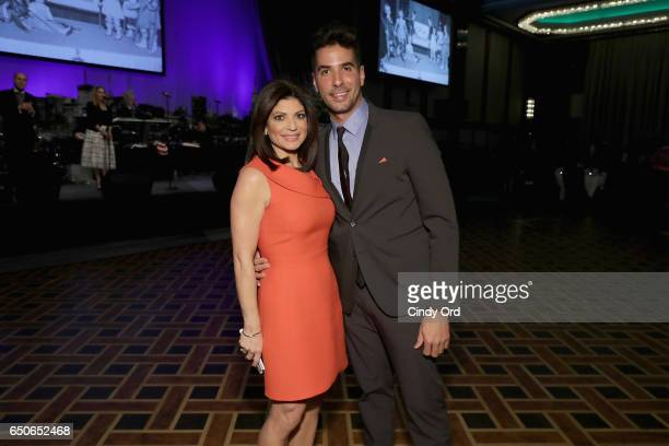 Host Tamsen Fadal and photographer Javier Gomez attend UCP of NYC 70th Anniversary Gala on March 9 2017 in New York City