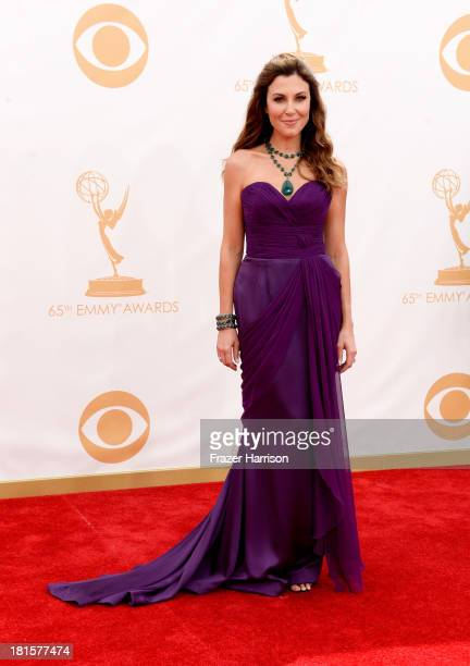 TV host Tea Andrews arrives at the 65th Annual Primetime Emmy Awards held at Nokia Theatre LA Live on September 22 2013 in Los Angeles California