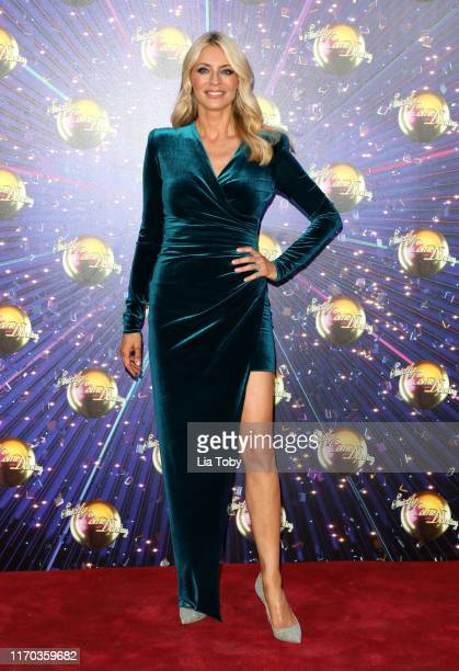 Host Tess Daly attends the Strictly Come Dancing launch show red carpet at Television Centre on August 26 2019 in London England
