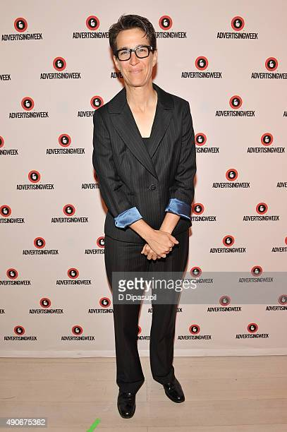 """Host """"The Rachel Maddow Show"""" MSNBC Rachel Maddow poses at the Road to the 2016 Election A Campaign Preview panel during Advertising Week 2015 AWXII..."""