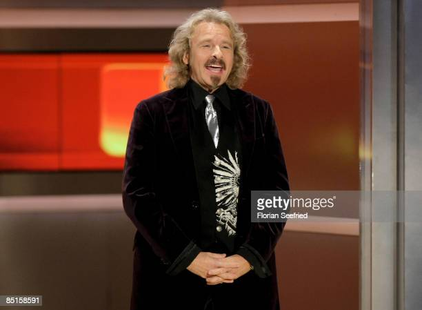 Host Thomas Gottschalk attends the Wetten dass...? show at the Messe Duesseldorf on February 28, 2009 in Duesseldorf, Germany.