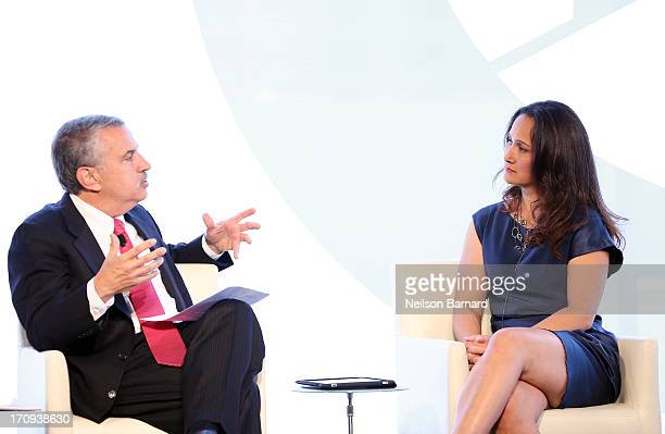 Host Thomas L Friedman speaks with DrCynthia Breazeal of the MIT Personal Robots Group Media Lab during the Social Skills Building A Better Robot...