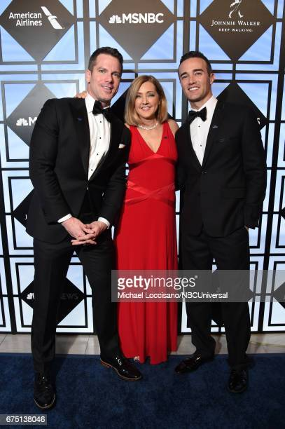 MSNBC Host Thomas Roberts NBC News Correspondent Chris Jansing and Patrick Abner attend the White House Correspondents Dinner MSNBC After Party at...