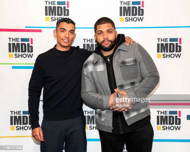 Host Tim Kash and O'Shea Jackson Jr on the set of 'The IMDb Show' on January 6 2020 in Santa Monica California This episode of 'The IMDb Show' airs...