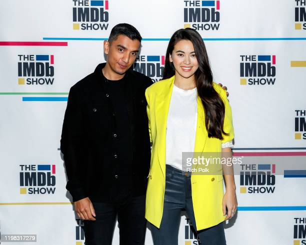Host Time Kash and actress Jessica Henwick on the set of 'The IMDb Show' LIVE on Twitch on January 8, 2020 in Santa Monica, California. This episode...