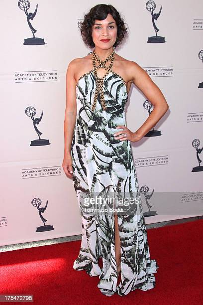 TV host Tina Malave attends the Academy Of Television Arts Sciences 65th Los Angeles Area EMMY Awards held at the Leonard H Goldenson Theatre on...