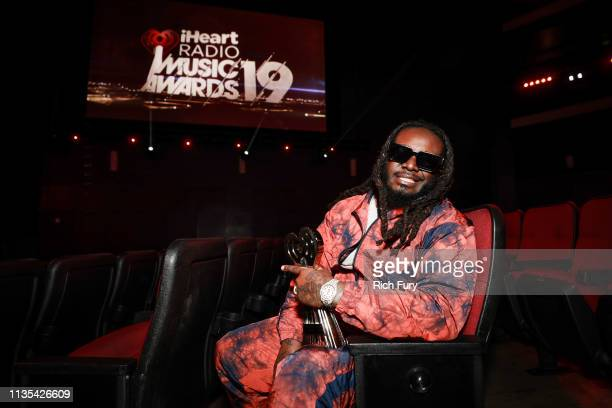 Host TPain attends the Press Junket for the 2019 iHeartRadio Music Awards Airing Live on FOX Thursday March 14 2019 at Microsoft Theater on March 12...