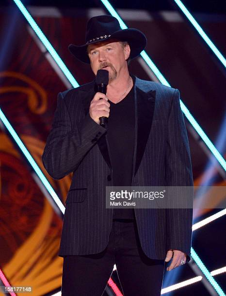 Host Trace Adkins speaks onstage during the 2012 American Country Awards at the Mandalay Bay Events Center on December 10 2012 in Las Vegas Nevada