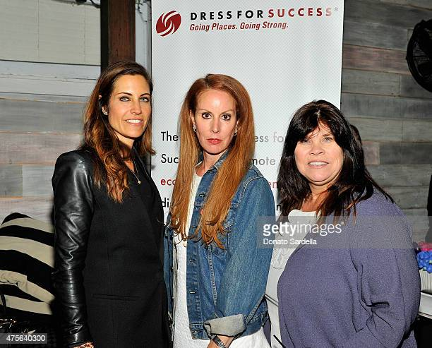 Host Tracy Brennan and talent agents Risa Shapiro and Bonnie Liedtke attend the Hilary Shor Tracy Brennan and IT Cosmetics dinner in honor of Dress...