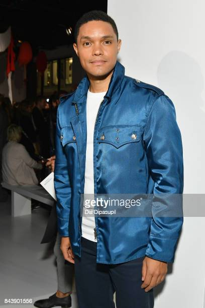 Host Trevor Noah attends the Calvin Klein Collection fashion show during New York Fashion Week on September 7 2017 in New York City