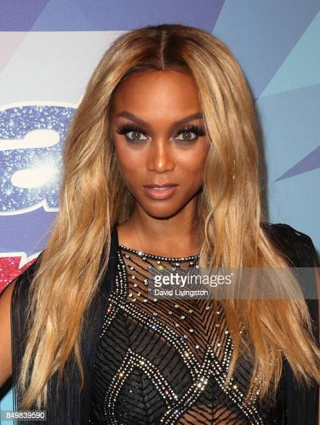 Host Tyra Banks attends NBC's 'America's Got Talent' Season 12 Finale Week at Dolby Theatre on September 19 2017 in Hollywood California