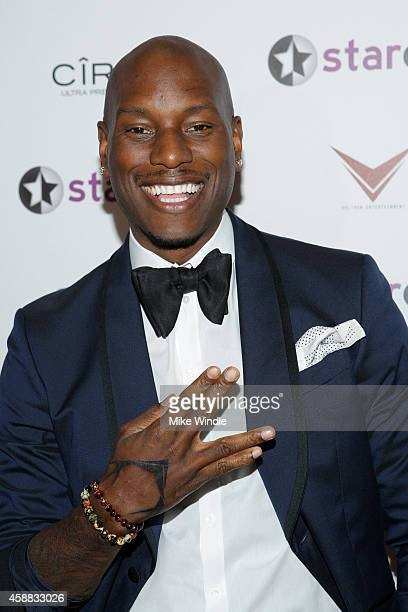 Host Tyrese Gibson styled by April Roomet attends StarClub Inc's Private Party hosted by Tyrese Gibson on Tuesday November 11 2014 in Santa Monica...