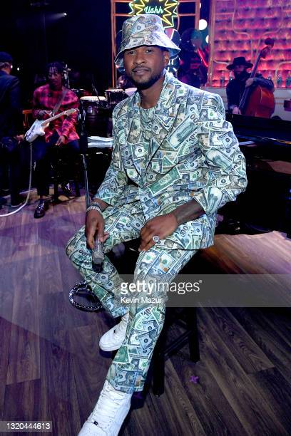 Host Usher attends the 2021 iHeartRadio Music Awards at The Dolby Theatre in Los Angeles, California, which was broadcast live on FOX on May 27, 2021.