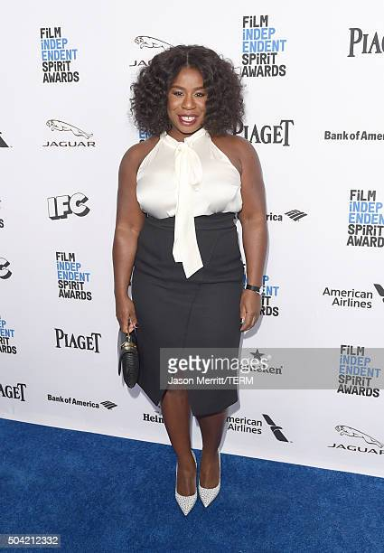 Host Uzo Aduba attends 2016 Film Independent Filmmaker Grant and Spirit Award Nominees Brunch at BOA Steakhouse on January 9, 2016 in West Hollywood,...