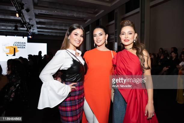 TV Host Vanessa Arturo guest and Founder of Jordan Fashion Week Shirene Rifai attend Jordan Fashion Week 019 on March 30 2019 at the Kempinski Amman...