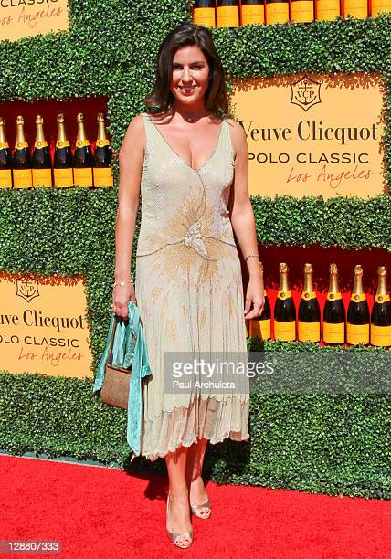 Host Vanessa Kay arrives at the 2nd annual Veuve Clicquot polo classic at Will Rogers State Historic Park on October 9, 2011 in Pacific Palisades,...