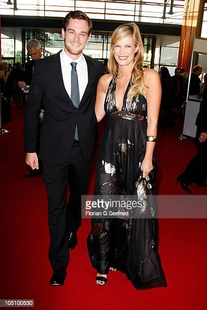 TV host Verena Wriedt and boyfriend Marcus Zierke attend the German TV Award 2010 at Coloneum on October 9 2010 in Cologne Germany