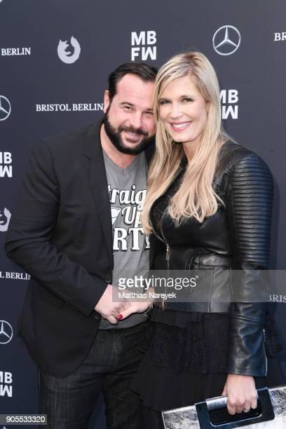 Host Verena Wriedt and husband Thomas Schubert attends the Ewa Herzog show during the MBFW Berlin January 2018 at ewerk on January 16 2018 in Berlin...
