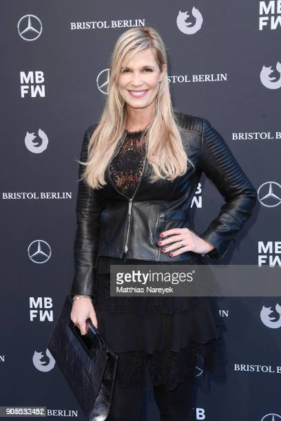 Host Verena Wriedt attends the Ewa Herzog show during the MBFW Berlin January 2018 at ewerk on January 16 2018 in Berlin Germany