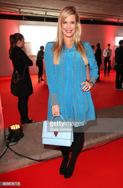 Host Verena Wriedt during the Marc Cain Fashion Show Berlin Autumn/Winter 2018 at metro station Potsdamer Platz at on January 16 2018 in Berlin...
