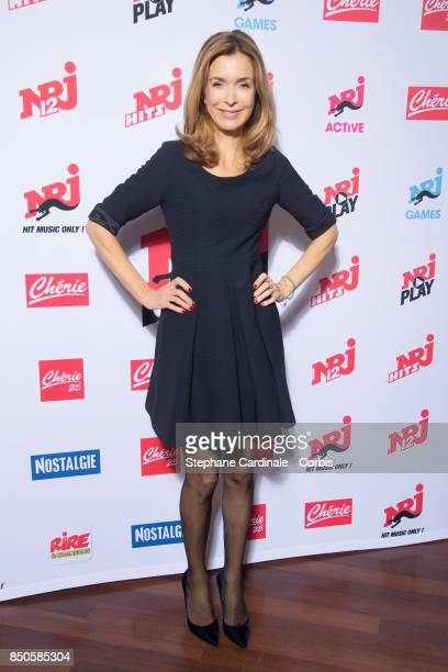 Host Veronique Mounier attends the NRJ's Press Conference to Announce Their Schedule for 2017/2018 on September 21 2017 in Paris France