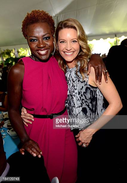Host Viola Davis actress KaDee Strickland attend the Rape Treatment Center Brunch honoring Norman Lear hosted by Viola Davis at Green Acres Estate on...