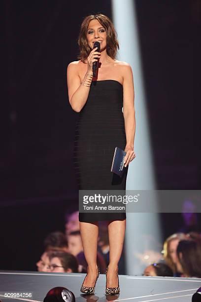Host Virginie Guilhaume during 'Les Victoires De La Musique' at Le Zenith on February 12 2016 in Paris France