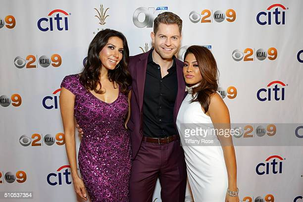 Host Viviana Vigil, TV Personality Jaymes Vaughan and Megan Teller attend the Red Carpet Viewing Party At The Grove, Presented By Citi And OK! TV at...