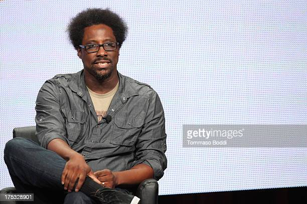 Host W Kamau Bell of the TV show Totally Biased with W Kamau Bell attends the Television Critic Association's Summer Press Tour FX panel held at The...
