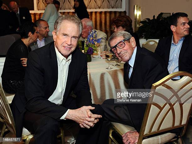 Host Warren Beatty and attorney Jay Kanter attend the 100th anniversary celebration of the Beverly Hills Hotel Bungalows supporting the Motion...