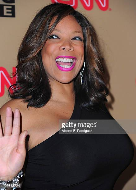 TV host Wendy Williams arrives at CNN's 'Larry King Live' final broadcast party at Spago restaurant on December 16 2010 in Beverly Hills California