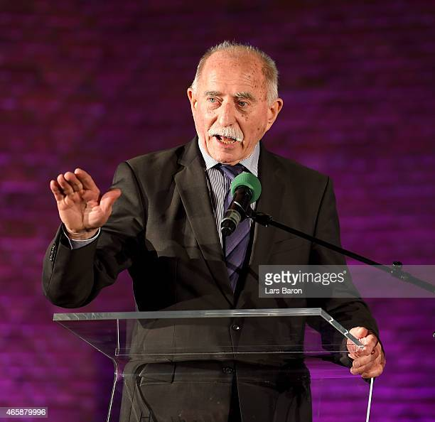 Host Werner Hansch is seen on the stage at Christuskirche on March 10 2015 in Bochum Germany
